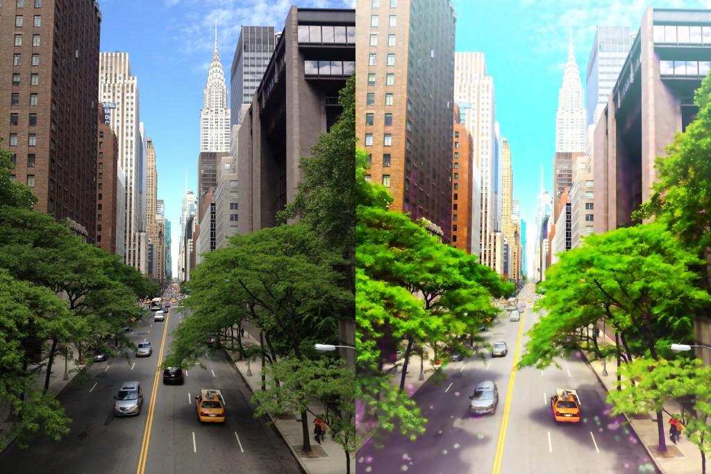 Photoshopで写真を簡単にアニメイラスト風カラー背景に加工する方法