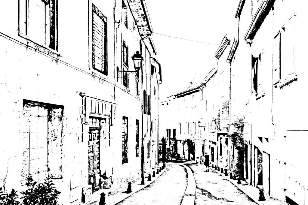 「線画3」レイヤー:ベタ塗りの完成図