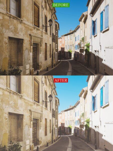 色調補正―BEFORE/AFTER―影の部分がはっきり見えるようになっている